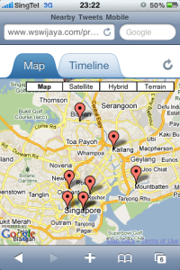 Nearby Tweets Map